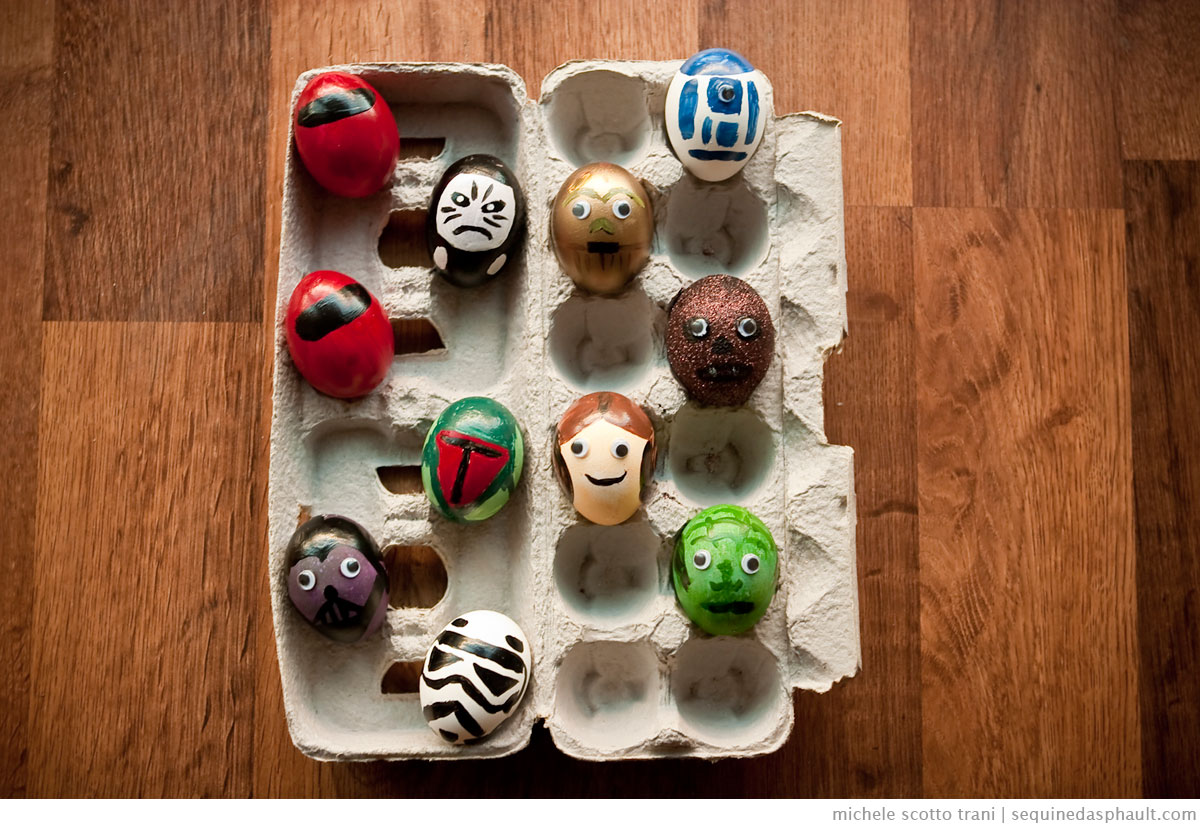 Star Wars Eggs | Photo by Michele Scotto Trani | http://michelescotto.com/blog