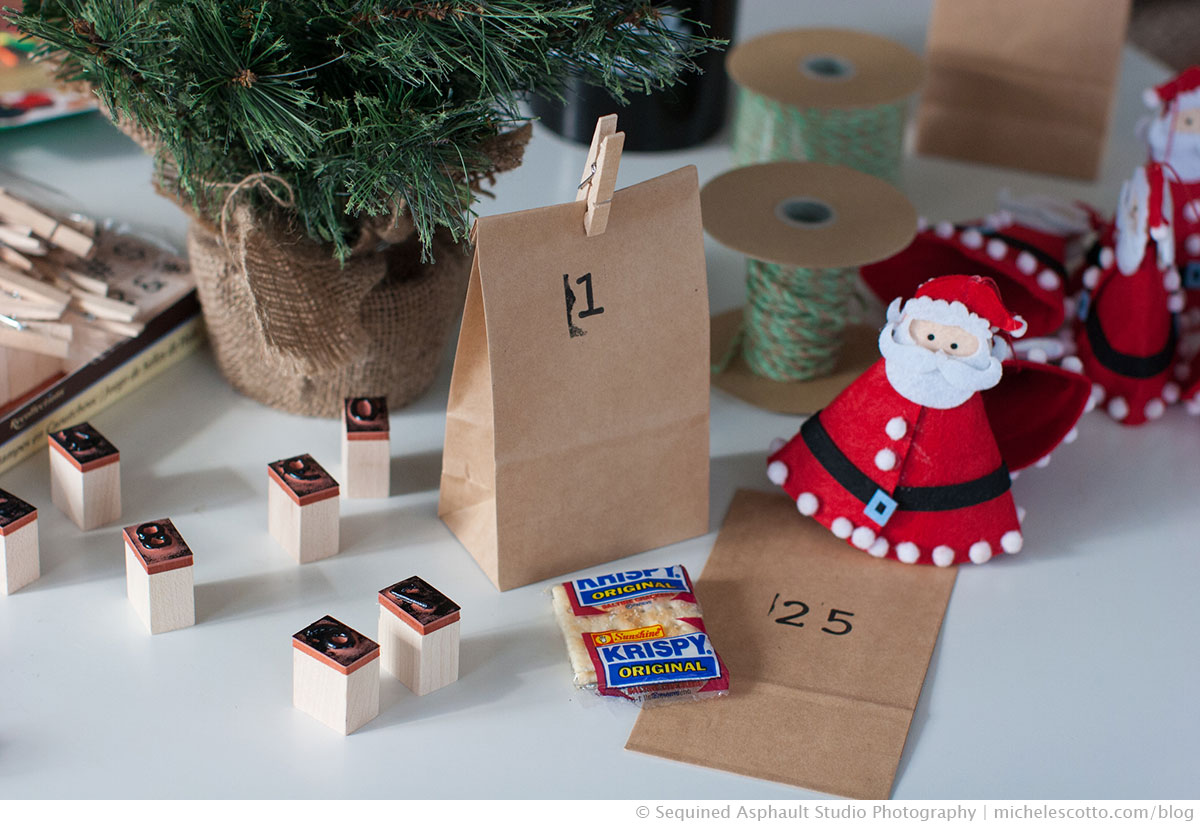 Our quick, inexpensive, minimalist, DIY, Advent Calendar on the blog | Photography and styling by Michele Scotto Trani